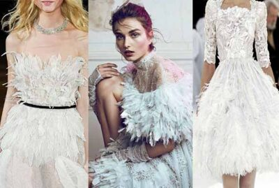 women Feathered Dresses