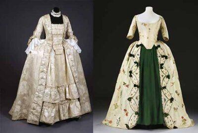 women Bustles and Panniers dresses
